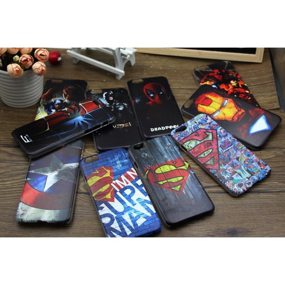 Case anti -scratch de super héroes iPhone