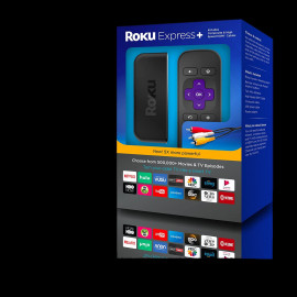 ROKU EXPRESS+ 3910RW HD STREAMS HDMI 1080HD