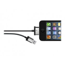 Belkin MIXIT 4ft 30-Pin to USB ChargeSync Cable, Black - Cable de carga / datos - Apple Dock (M) a USB (M)