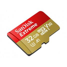 SanDisk Extreme - Tarjeta de memoria flash (adaptador microSDHC a SD Incluido) - 32 GB