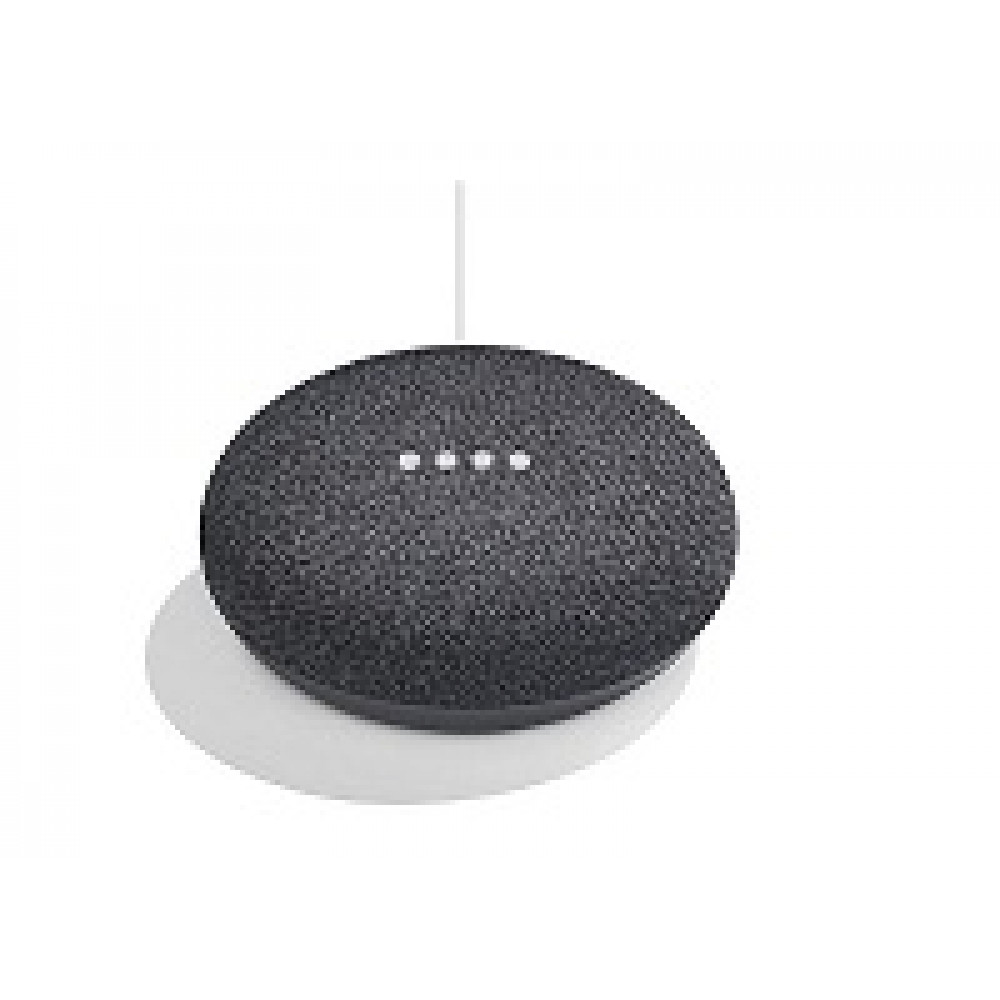 Google Parlante intelig con Google Assistant, con emp en español. Color gris oscuro