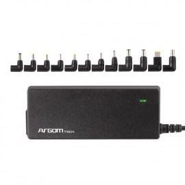 Adaptador Universal ARG-AC-0095 de 90W para Notebook c/Puerto USB ARGOM 100V-240V AC SENSOR AUTOMATICO