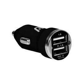 Cargador Dual ARG-AC-0102BK USB para Auto 2.1 AMP ARGOM