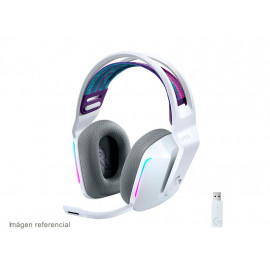 Logitech G733 LIGHTSPEED Wireless RGB Gaming Headset - Auricular - 7.1 canales - tamaño completo - 2,4 GHz - inalámbrico - blanco