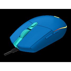Logitech Gaming Mouse G203 LIGHTSYNC - Ratón - óptico - 6 botones - cableado - USB - azul