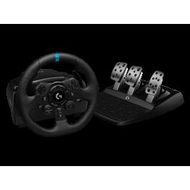 Logitech G923 - Juego de volante y pedales - cableado - para PC, Sony PlayStation 4