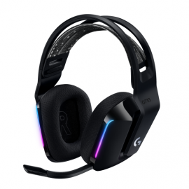 Logitech G733 LIGHTSPEED Wireless RGB Gaming Headset - Auricular - 7.1 canales - tamaño completo - 2,4 GHz - inalámbrico - negro
