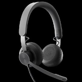 Logitech Zone Wired Noise Cancelling Headset - Para Microsoft Teams - auricular - en oreja - cableado - cancelación de sonido activo - USB-C - grafito